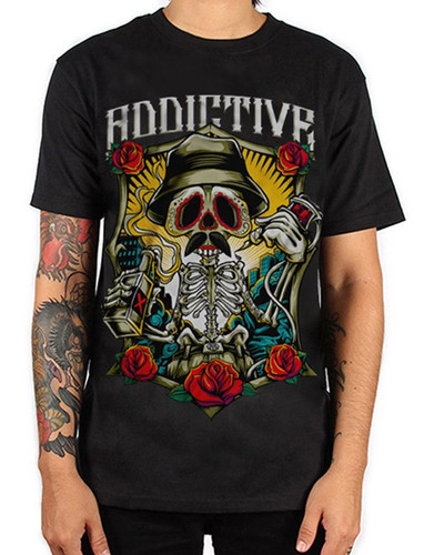 Addictive Drinking Skeleton T-Shirt