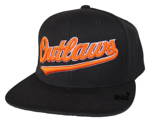 Streetwise Outlaws Snapback Hat (BlK)