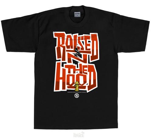 Streetwise T-Shirt Hood Raised BLK
