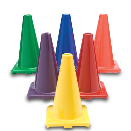 Cone Markers for marking boundries or playing fields. Great for sports or play therapy in physical therapy.