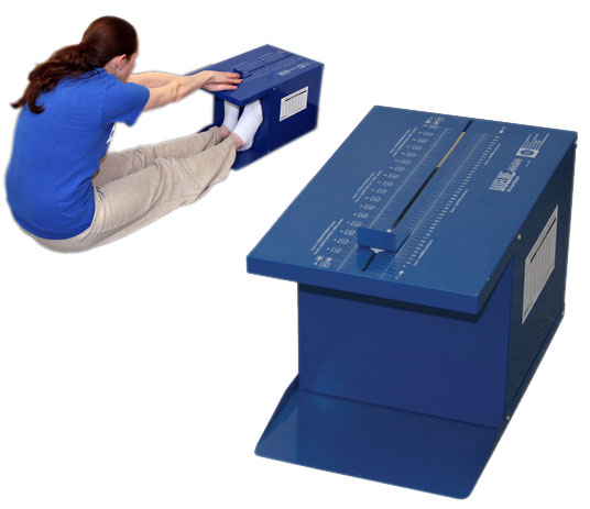 Shop for sit and reach test boxes, arthrodial protractor, and other flexibility testing tools.