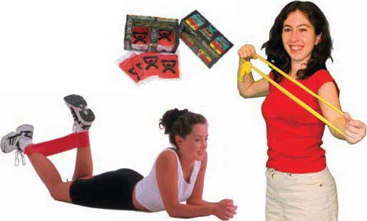 Shop for latext free exercise and resistance bands made by Cando and Thera Band.