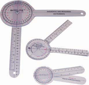 Measure range of motion quickly and accurately with medical goniometers.