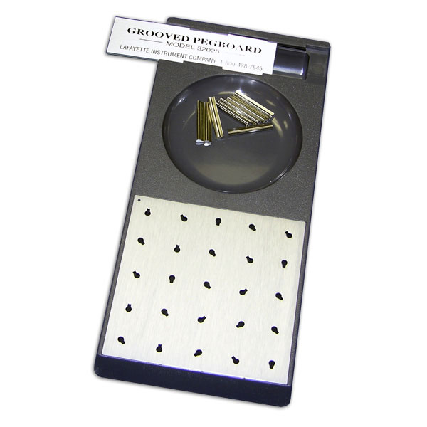 Pegboard tests are tools that occupational therapists use for evaluating and testing dexterity.