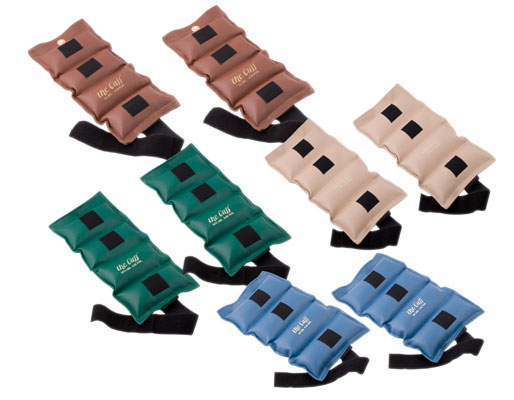 Ankle and wrist weights for resistance training and occupational therapy.