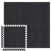 Black/Grey SoftRubber 2-feet Square 3/4-inch Thick Rubber Flooring Tiles