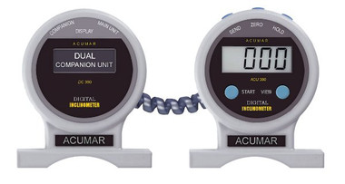 Acumar dual inclinometer Package contains Digital Inclinometer and Companion Unit with case and connecting cable