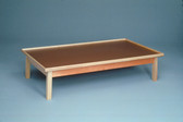 6ft x 3ft x 19in. Wooden Platform Table with Raised Rim