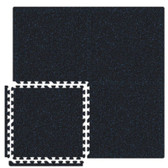 Black/Royal Blue SoftRubber 2ft Square 3/4-inch Thick Rubber Flooring Tiles