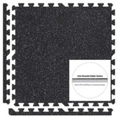 Black/Grey SoftRubber 2ft. Square 3/8-inch Thick Rubber Flooring Tiles