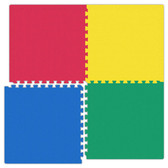 Assorted Colors Economy SoftFloors Reversible Rubber Flooring Tiles
