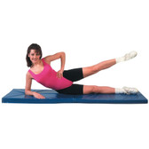 Cando Exercise Mat - Non-Folding (2-inch PU Foam with Cover, 2 x 6 feet)
