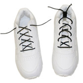 Elastic Shoe Laces with Cord-Lock (1 Pair, White Color)