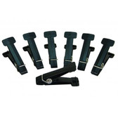 Replacement Pins for Graded Pinch Finger Exerciser (Black, Extra Heavy, 7 pieces)