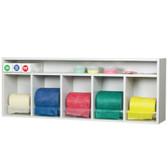 Horizontal Universal BandRac with Shelf (5 Rolls Capacity)