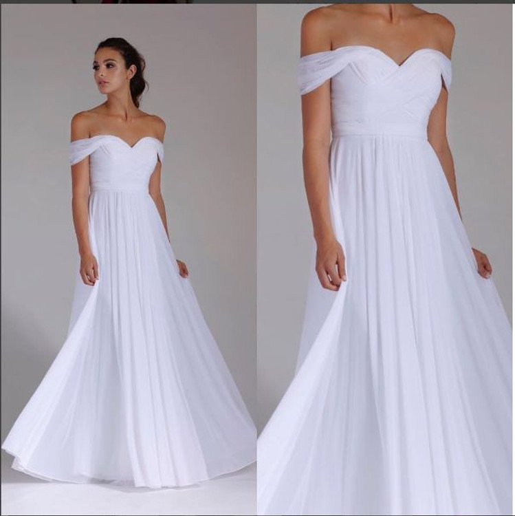 Lizzy Formal Dress in White in size 6-24