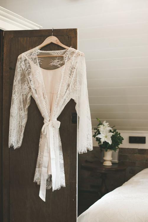 Bridal Full Lace Robe in S, M,L