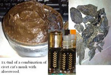 11ml Oud/Agarwood/Aloeswood + 1 gram of Civet's Cat Musk Gland from Ethiopian