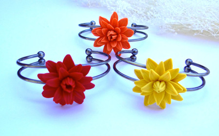 Dahlia Cuff Bracelet