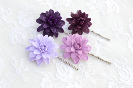 Small Dahlia Hair Clip (1 pcs only)