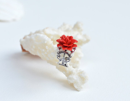 Red Dahlia Ring