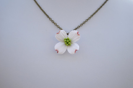 Dogwood Simple Drop Necklace.