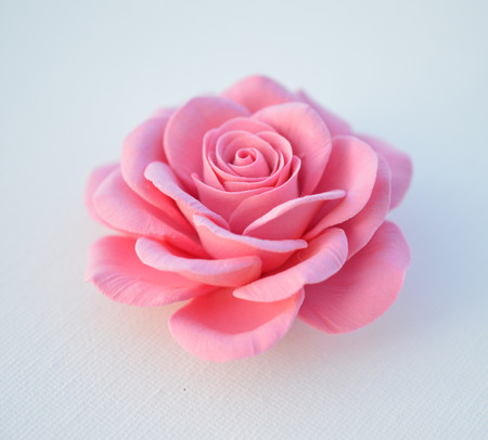 Caroline Hair Clip in Pink Rose. LARGE