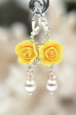 Tamara Statement Earrings in Sunshine Yellow
