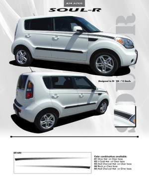 SOUL R Accent Decals Digital Print Graphics Stripes|Kia Soul 2008-2013