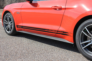 15 BREAKUP 2015-2018 Ford Mustang GT Rocker Stripes Decal Graphics