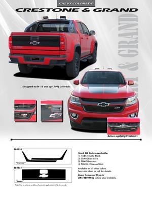 Chevy Colorado Graphics   CRESTONE GRILL ACCENT Decals Stripe Kit 2015-2018 3M