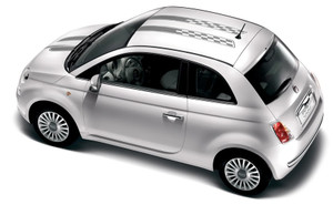 CHECKERED RALLY Decals Stripes Vinyl Graphics 3M|2012-2018 Fiat 500