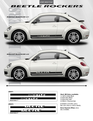 VW Beetle Rocker #2 Lower Stripes Decals Style Kit 2012-2017
