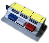 Tally Counter (D3b) DeskTop 3 bank 4 digit Aluminium