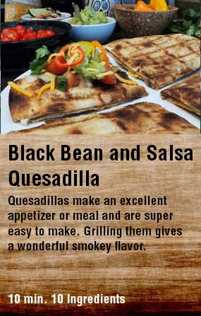 Black Bean and Salsa Quesadilla
