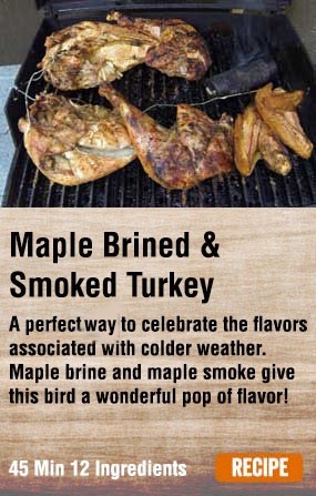 Deconstructed Maple Brined Smoked Turkey
