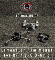 Can-Am Spyder Ram mount for RT with Large X-Grip (LG-1086-UN10BU) by Lamonster