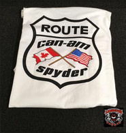 Can Am Flag T-Shirt (White Short Sleeve) (LG-7003)  Lamonster Garage