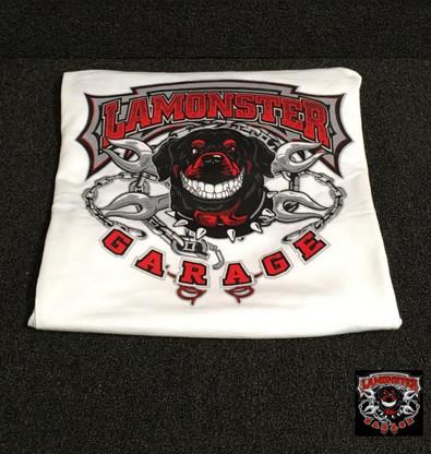 Lamonster Garage T-Shirt (White Long Sleeve) (LG-0025)