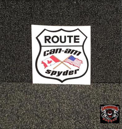 Can-Am Flag Decal (LG-2014) Lamonster Garage