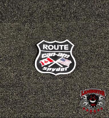 "Can-Am Spyder Flag Patch (5""X5"" Black) (LG-7005B) by Lamonster"