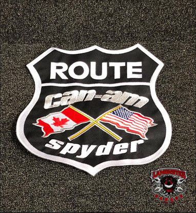 """Can-Am Spyder Flag Patch (11""""X11"""" Black) (LG-7006) by Lamonster"""