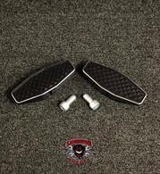 Black Dymond Centerline Pegs (Accent Cut) (LG-1076) by Lamonster Can-Am Spyder Motorcycle.   #Lamonster #BlackDymond #LamonsterGarage