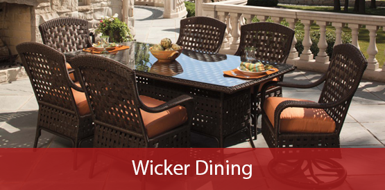 Outdoor Wicker Dining