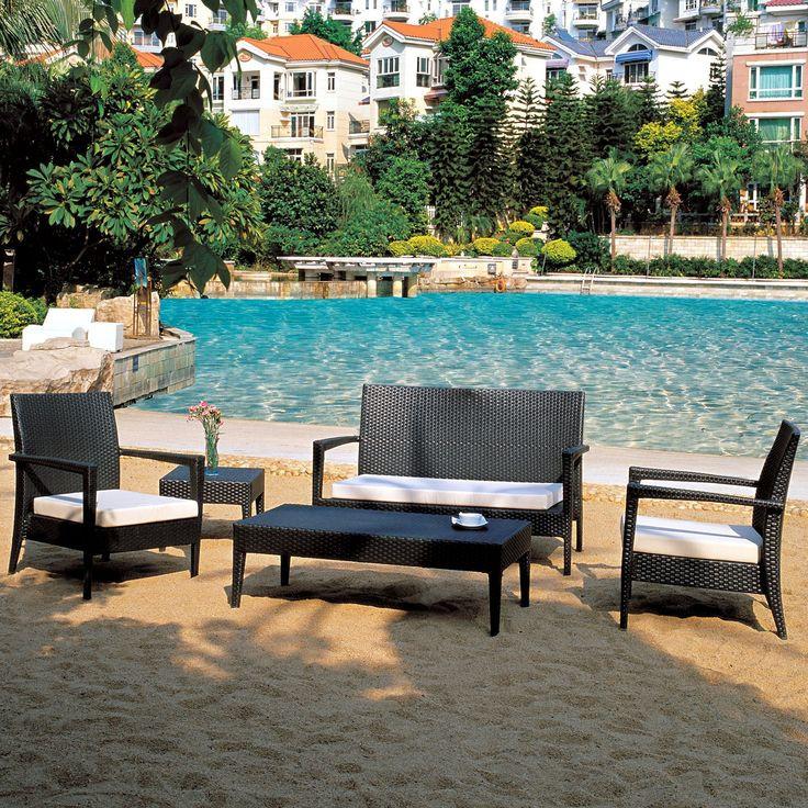 Safavieh Jack Sky Blue Corner Chair Home Decor Accent: Source Furniture Zen Wicker Patio Set