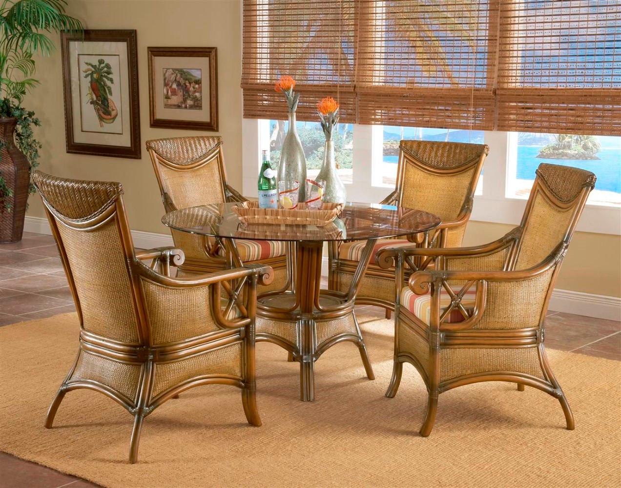 South Sea Rattan Pacifica Indoor Wicker Dining Set