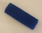 Blue terry sport headband for sweat