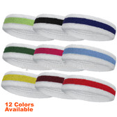 Step on to the court with this bright white-red-white sweatband and be sure to turn heads. Made with superior breathable material this absorbs all the sweat keeping you dry and comfortable. The optimal amount of elasticity in the superior fabric makes sure its stays up all day!