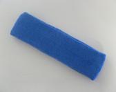 Large cerulean blue sports sweat headband pro