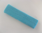 Large light sky blue sports sweat headband pro
